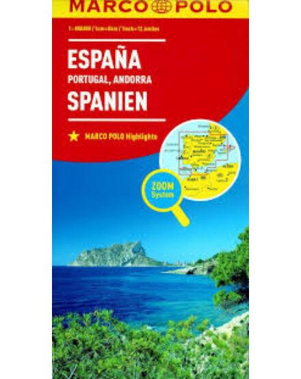 Cartographia  - Spanyolország, Portugália, Andorra térkép