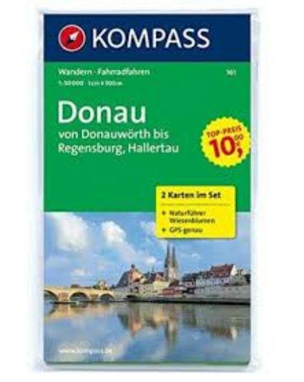 Cartographia  - K 161 Duna (Donauwört - Regensburg) turistatérkép