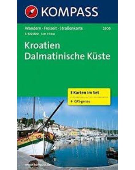 Cartographia  - K 2900 Horvátország - Dalmát-tengerpart turistatérkép