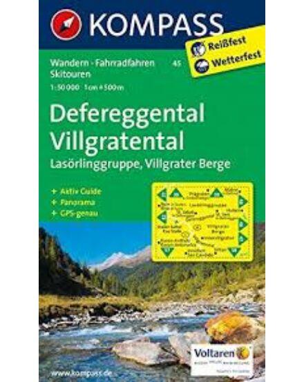 Cartographia  - K 45 Defereggental, Villgratental turistatérkép