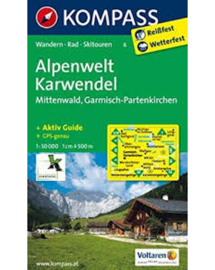 Cartographia  - K 6 Alpenwelt Karwendel turistatérkép