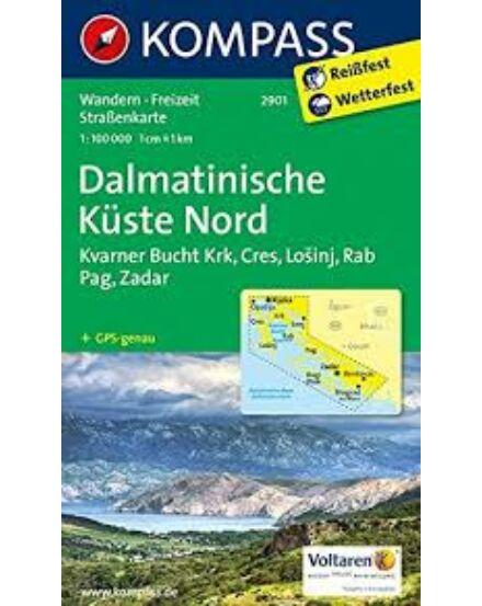 Cartographia  - K 2901 Észak Dalmát-tengerpart (Krk-Cres-Losinj-Rab-Pag-Zadar) turistatérkép