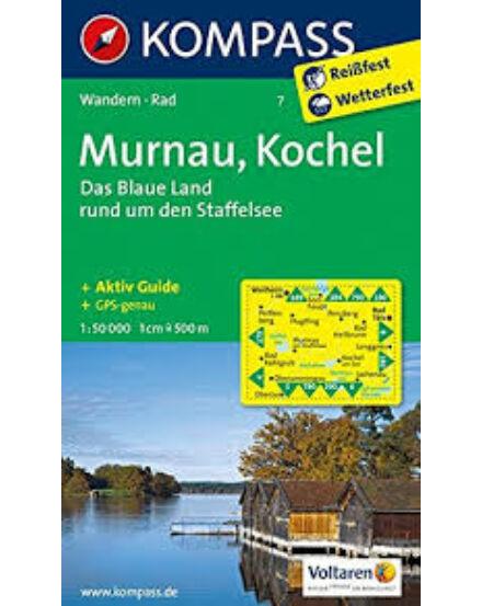 Cartographia  - KOMP 7 Murnau, Kochel turistatérkép