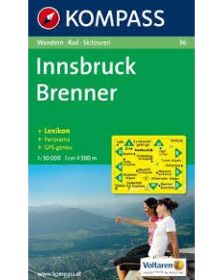 Cartographia  - K 36 Innsbruck, Brenner turistatérkép