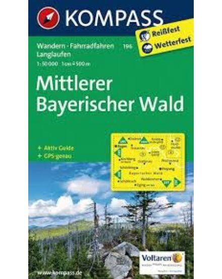 Cartographia  - K 196 Bajor-erdő középső rész turistatérkép