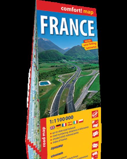 Cartographia  - Franciaország Comfort térkép