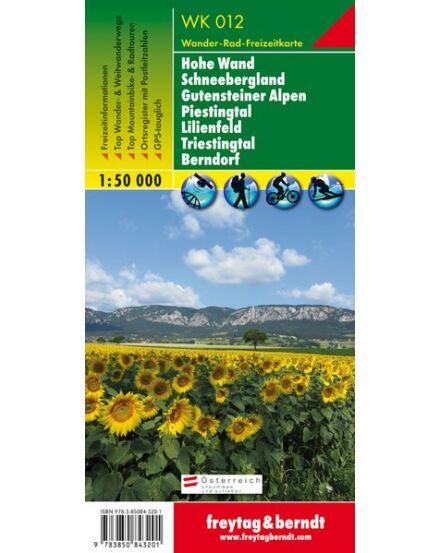 Cartographia  - WK012 Hohe Wand–Schneebergland–Gutensteiner Alpen–Piestingtal–Lilienfeld–Triestingtal–Berndorf turistatérkép