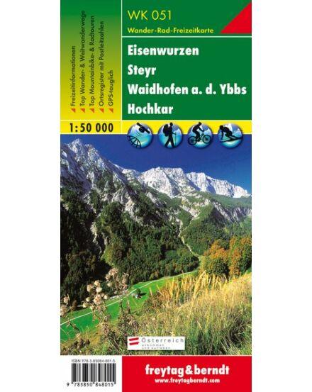 Cartographia  - WK051 Eisenwurzen-Steyr-Waidhofen/Ybbs-Hochkar turistatérkép