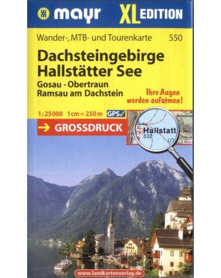 Cartographia  - WM 550 Dachsteingebirge - Halstatter See turistatérkép