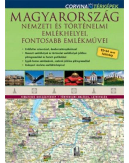 Cartographia  - Magyarország Nemzeti és Történelmi emlékhelyei térkép