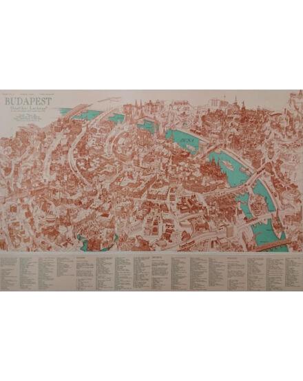 Cartographia  - Budapest látképe keretes falitérkép