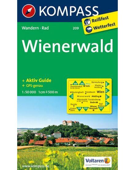 Cartographia  - Bécsi-erdő Wienerwald turistatérkép