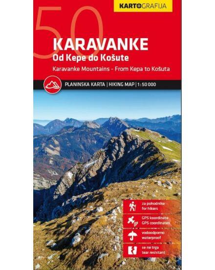 Cartographia  - Karavankák  turistatérkép
