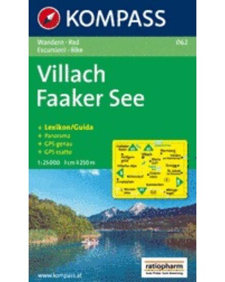 Cartographia  - K 062 Villach - Faaker See turistatérkép