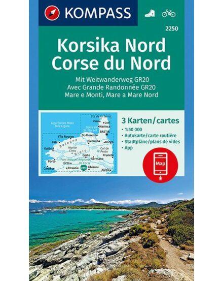 Cartographia  - K 2250 Korzika északi rész turistatérkép
