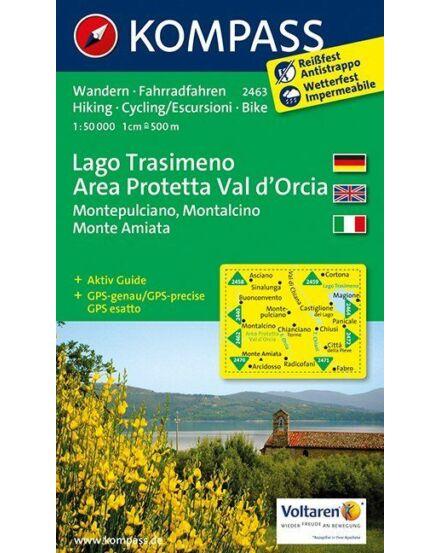 Cartographia  - K 2463 Trasimeno-tó, Val d'Orcia turistatérkép