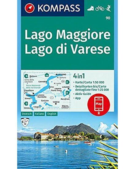 Cartographia  - Lago Maggiore /Lago di Varese turistatérkép