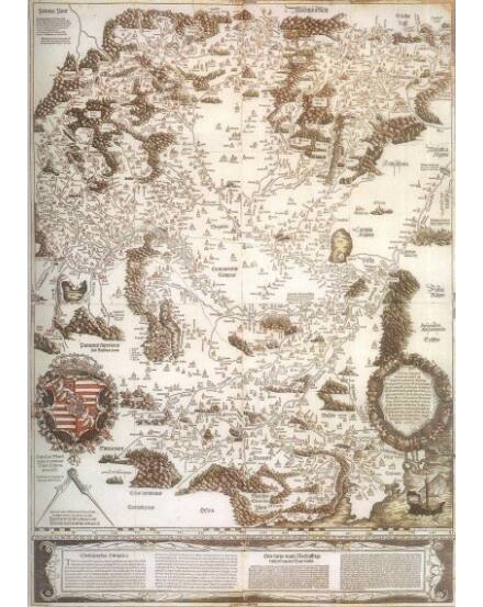 Cartographia  - Tabula Hungariae falitérkép keretezett
