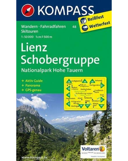 Cartographia  - K 48 Lienz, Schobergruppe, Hohe Tauern Nemzeti Park turistatérkép