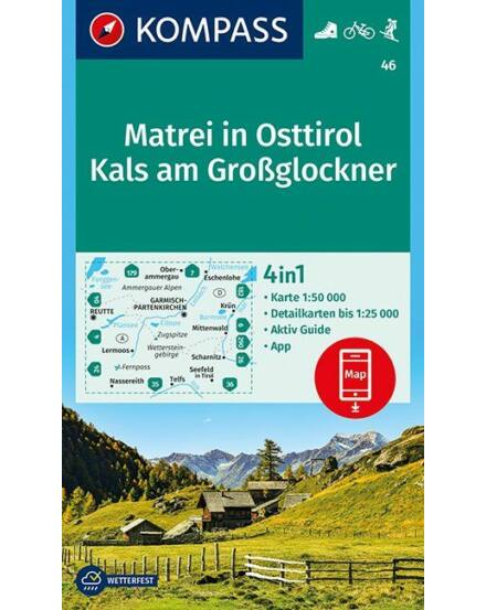 Cartographia  - K 46 Matrei (Kelet-Tirol-ban), Kals am Grossglockner turistatérkép