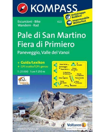 Cartographia  - Pale di San Martino - Fiera di Primiero - Paneveggio - Valle del Vanoi turistatérkép