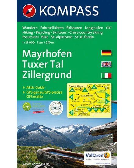 Cartographia  - Mayrhofen - Tuxer Tal - Zillergrund turistatérkép