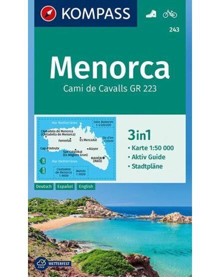 Cartographia  - K 243 Menorca turistatérkép