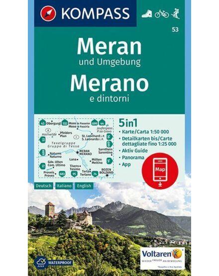 Cartographia  - KOMPASS Wanderkarten: Meran und Umgebung /Merano e dintorni turistatérkép
