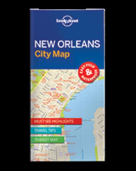 Cartographia  - New Orleans laminált térkép Lonely Planet
