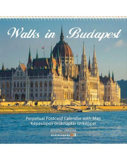 Cartographia  - Walks in Budapest - Képeslapos öröknaptár térképpel