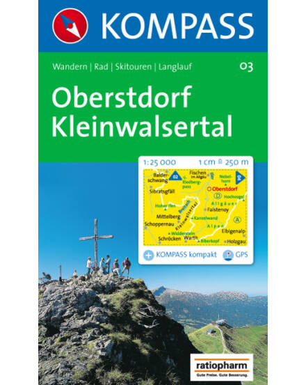 Cartographia  - Oberstdorf - Kleinwalsertal turistatérkép