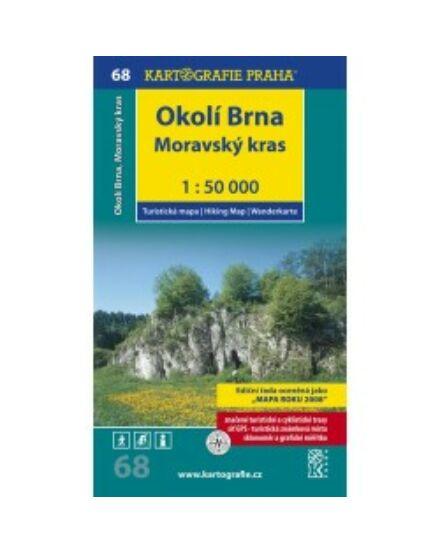 Cartographia  - TM 68 Brno környéke Morva-karszt turistatérkép