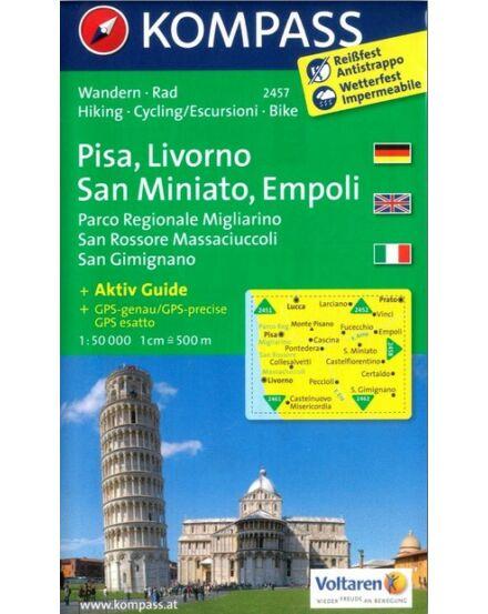 Cartographia  - K 2457 Pisa, Livorno, San Miniato, Empoli turistatérkép