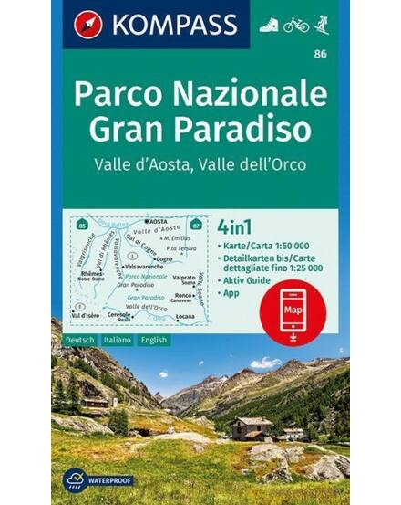 Cartographia  - K 86 Gran Paradiso turistatérkép