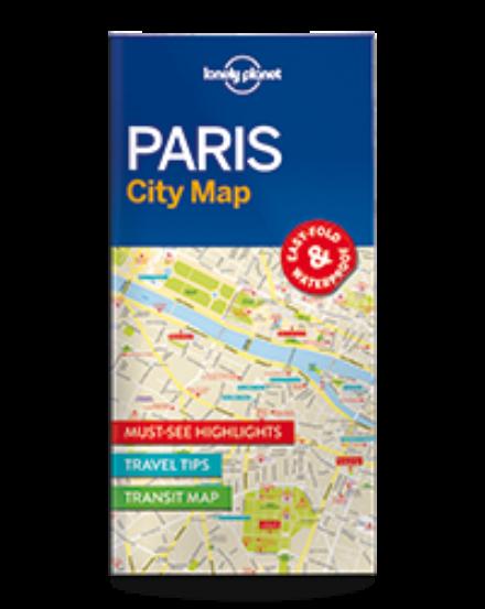 Cartographia  - Párizs laminált térkép Lonely Planet