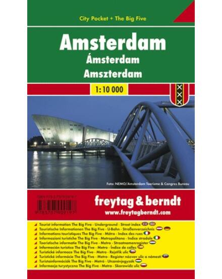 Cartographia  - Amszterdam City Pocket térkép (laminált)