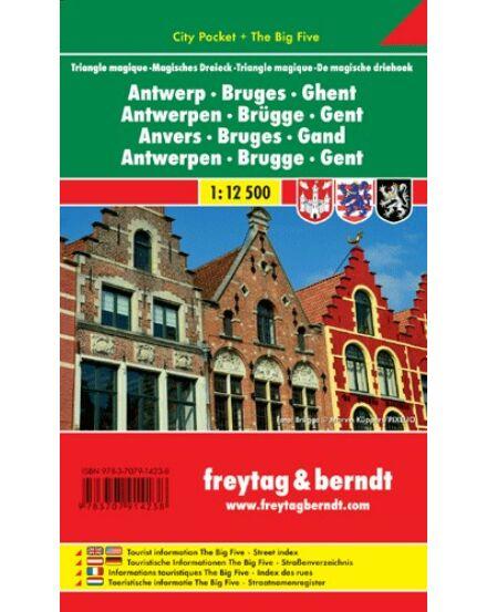 Cartographia  - Antwerpen, Brügge, Gent City Pocket térkép