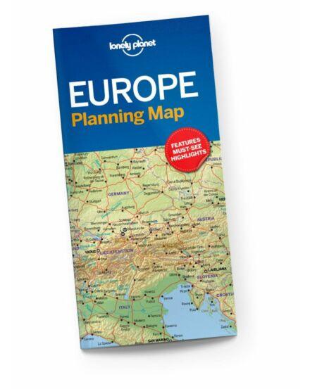 Cartographia  - Európa útvonaltervező térkép Lonely Planet