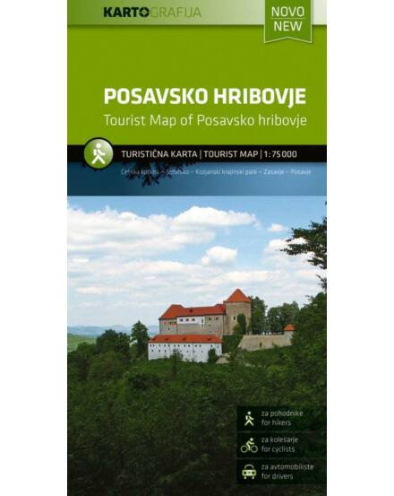 Cartographia  - Posavsko hribovje turistatérkép
