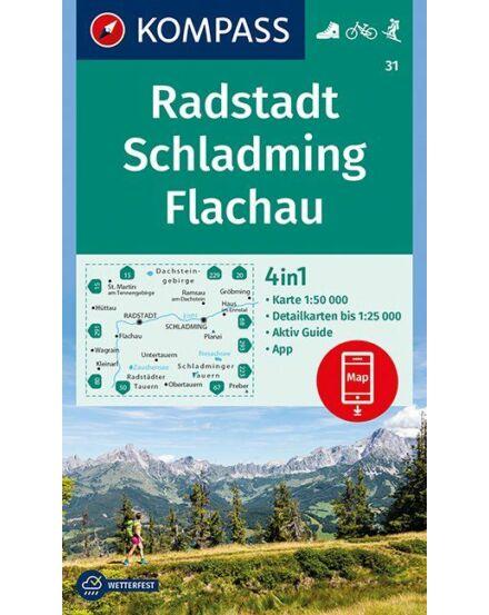 Cartographia  - K 31 Radstadt-Schladmig-Flachau turistatérkép