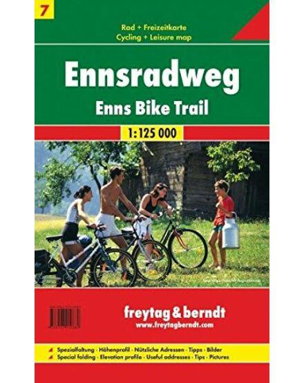 Cartographia  - Ennsradweg - Enns menti kerékpárutak térkép
