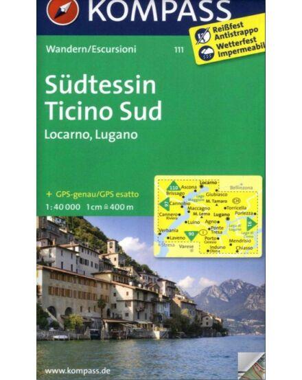 Cartographia  - K 111 Südtessin-Locarno-Lugano turistatérkép