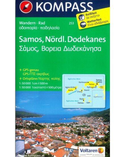 Cartographia  - K 253 Samos, Észak-Dodekánok turistatérkép