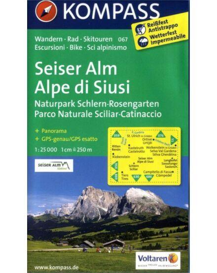 Cartographia  - K 067 Seiser Alm/Alpe di Siusi turistatérkép