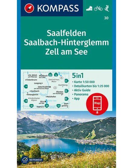Cartographia  - K 30 Saalfelden, Saalbach-Hinterglemm, Zell am See turistatérkép