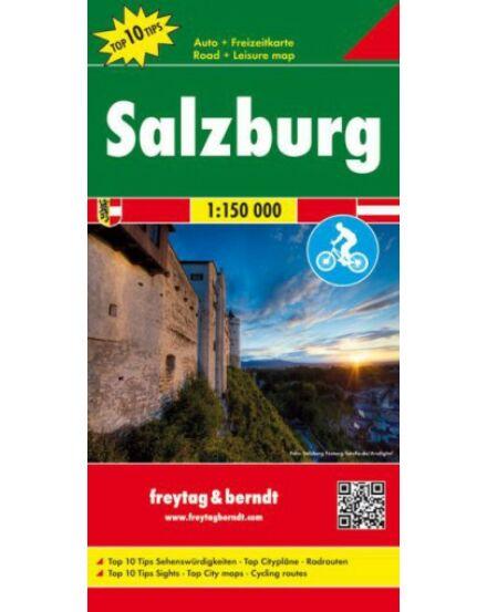 Cartographia  - Salzburg és környéke térkép - kerékpárutakkal