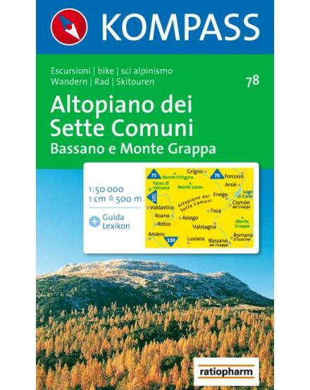 Cartographia  - Altopiano dei Sette Comuni - Bassano e Monte Grappa turistatérkép