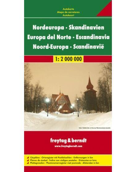 Cartographia  - Észak-Európa Skandinávia térkép