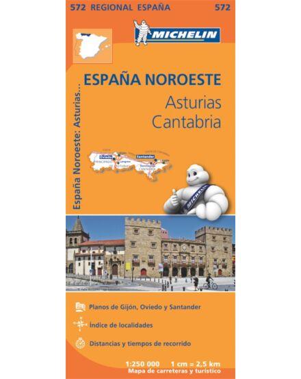 Cartographia  - Spanyolország régiótérkép  Asturias, Cantabria