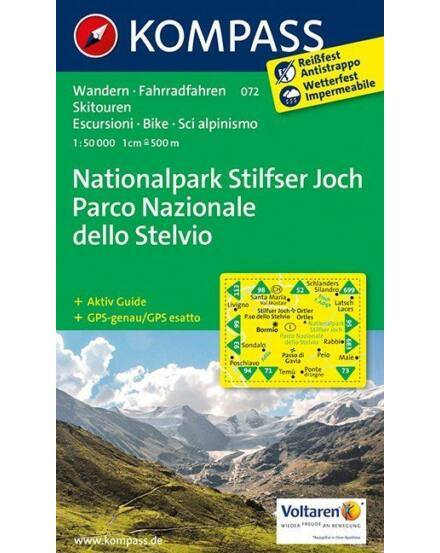 Cartographia  - K 072 Stelvio Nemzeti Park turistatérkép